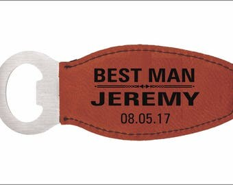 BEST MAN Custom Magnetic Bottle Opener, Personalized Wedding Favors, Thank You Gifts to Wedding Entourage,Gifts from the Couple, LBO003