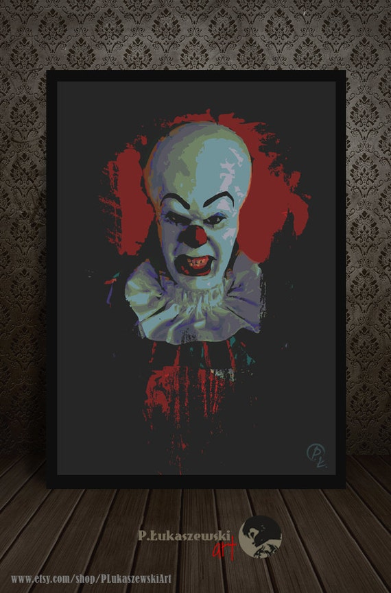 pennywise portrait it alternative movie poster print acirciquestte gusta este artatildeshyculo
