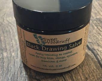 Black Salve, Black Drawing Salve, Bug Bite Relief, Activated Charcoal Salve