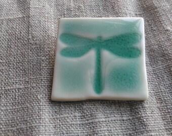 Dragonfly Porcelain Brooch