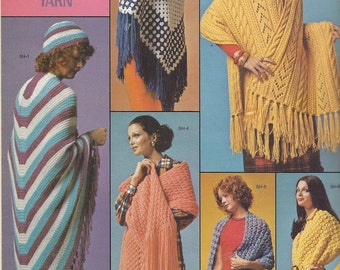 Vintage Columbia Minerva Shawls to knit and crochet pattern pdf download