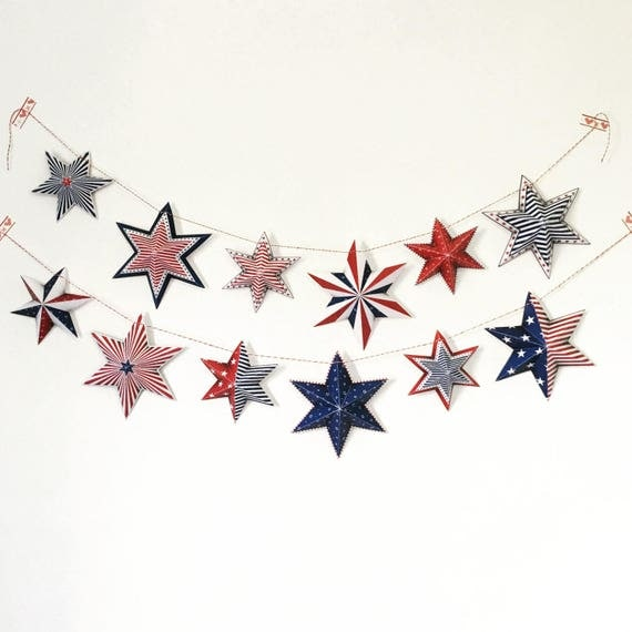 Printable 4th of july party decoration