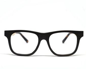 Ebony Wood Eyeglasses Wooden Glasses Prescription Glasses Eyeglass Frames Mens Glasses Womens Glasses Real Wood Vintage Glasses Unique