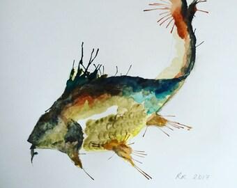 Carp Watercolour Print