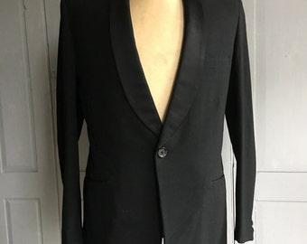Vintage Selfridges Mans Shop Sumrie mens black dress dinner jacket size 40 inch chest