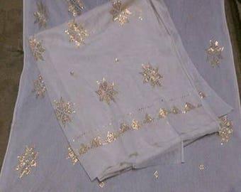 Egytpian Handmade Assuit fabric with gold metal