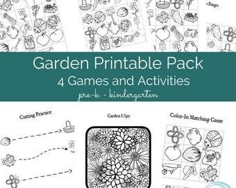 Garden-Themed Early Learning Printable Pack for Pre-K & K