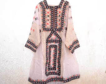 Vintage Balochistan dress, lace, tulle, party dress, 80s, wedding, kuchi, pink, embroidery, ethnic, boho, Indian, Afghani, pakistan