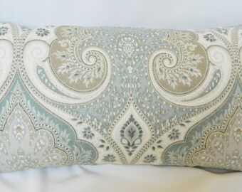 Kravet Latika-Seafoam - Decorative Throw Pillow Euro Sham Lumbar pillow Cover / Linen / Both Sides / All Size Available