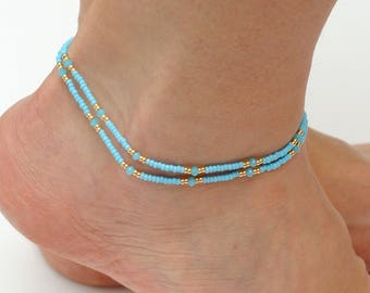 Womens Ankle Bracelet Anklet beach Delicate Anklet Tiny anklet for Women anklets Yoga anklet gift for her girlfriend gift Summer gifts her