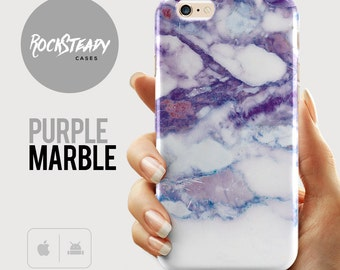 Purple marble Phone case, iPhone 7, Samsung Galaxy S8, s7, s6, iPhone 5s Case, 6s Plus case, iPhone SE Case, iPhone 5C case, Samsung S5, S4