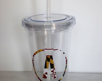Maryland Initial Tumbler Cup || Maryland Cup || MD Tumbler Cup