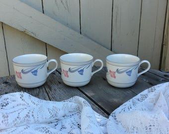 Vintage Lenox Glories on Gray Tea/Coffee Cups