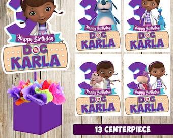 13 Doc McStuffins centerpieces, Doc McStuffins printable centerpieces, Doc McStuffins party supplies, Doc McStuffins birthday