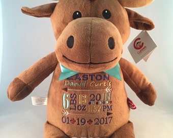 Personalized birth announcement stuffed animal - Personalized stuffed animal - Birth announcement - Personalized gift - Baby shower gift