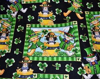 "Robert Kaufman Novelty Pot O'Gold Patches  100% cotton 43"" wide fabric (H75)"