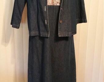 Copa Cabans Denium Dress with Jacket. Size Small