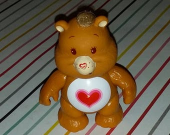 Vintage 1980s Care Bears Tenderheart PVC Figure