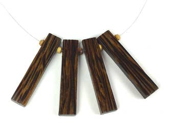 Salvaged Black Palmira Wooden Necklace