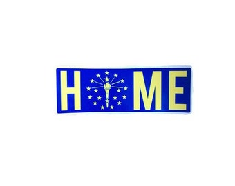 Indiana Home Stickers (Multiple Colors)