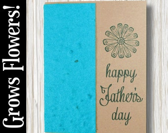 """CUSTOMIZABLE - Grows 13 different Wildflowers - """"Happy Father's Day"""" - Plant the Card! - #PD001"""