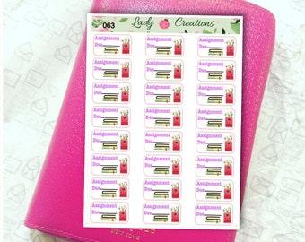 063   School Tafe College Assignment - Planner Stickers
