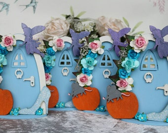 A Cinderella Inspired Fairy Door - Shabby Chic- Can Be Personalised- Gift ideas - Weddings - Birthdays - Baby Showers- Disney Themed -