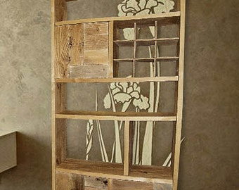 Solid wood bookcase,narrow bookcase,pallet furniture, modern bookcase,ructic  furniture,tall bookcase,open bookcase