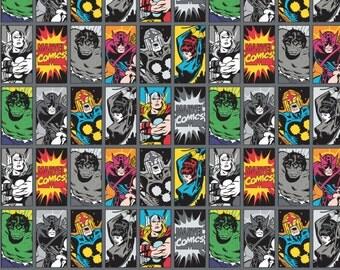 Marvel Comics III - Comic Book Fabric - Iron - sold by the 1/2 yard