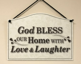 God Bless our Home Hanging Sign