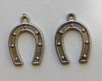 Silver Horseshoe Charms (2)