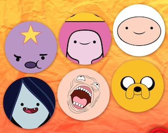 Adventure Time Face Stickers
