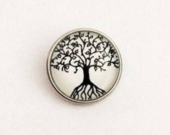 Snap Charm Tree of Life fits Noosa, Ginger snaps jewelry and other interchangeable jewelry regular size 18 mm, Christmas gifts, Gift for her