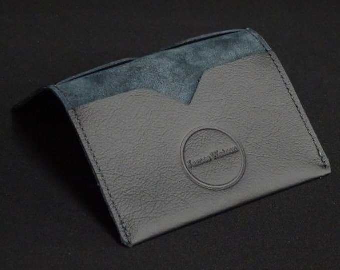 Bantam Wallet - Matte Black - Kangaroo leather with RFID Credit Card Blocking - James Watson