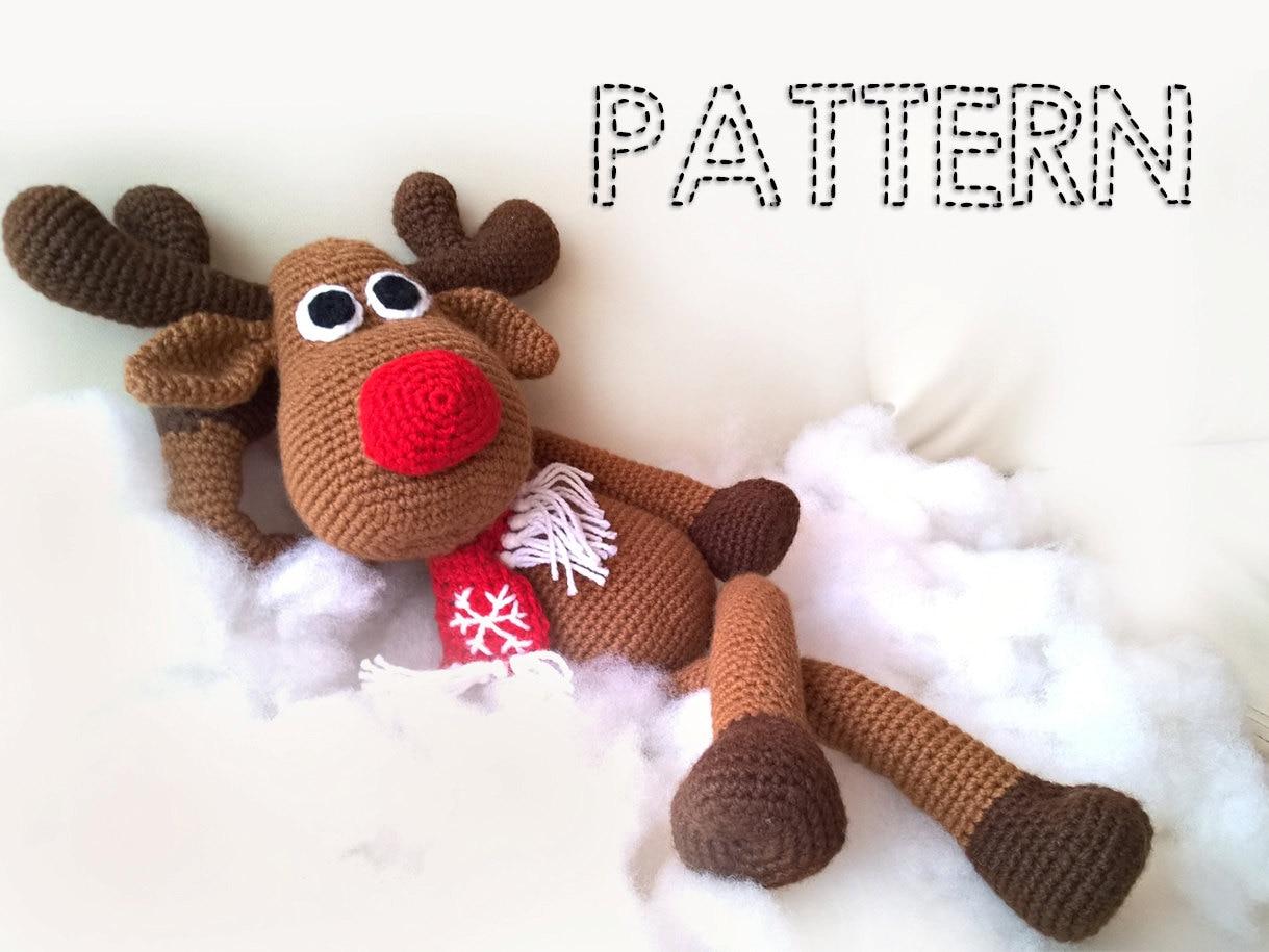 Sale crochet christmas deer patterns rudolph toy reindeer zoom bankloansurffo Choice Image
