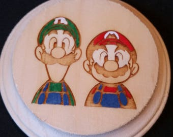 Super mario Brothers Wooden Wall Hanger