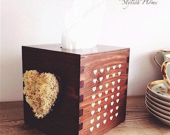 wooden tissue box cover/ kleenex box holder, kleenex holder