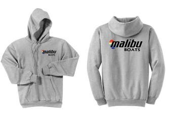 Malibu Boats Ash Grey Hoodie Sweatshirt
