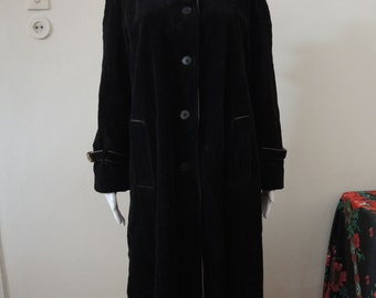 Vintage Corduroy Coat from Finland with detachable hood