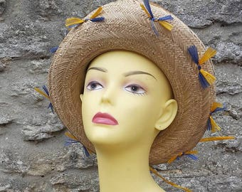 Vintage Mary Quant Straw Hat