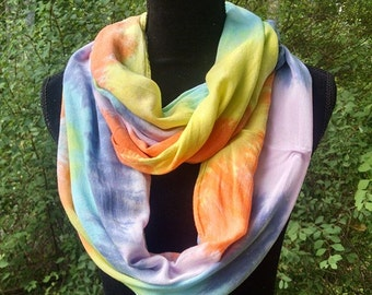 Tie-dyed Pastel Circular Infinity Scarf