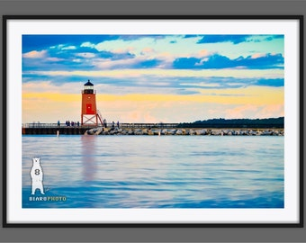 Michigan Art, Lake Michigan, Lighthouse Decor, Photos, Michigan Beach, Michigan Lighthouse, Northern Michigan, Charlevoix, South Pier Head