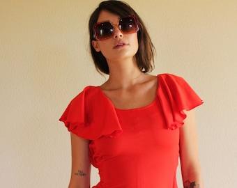 1970s mid dress