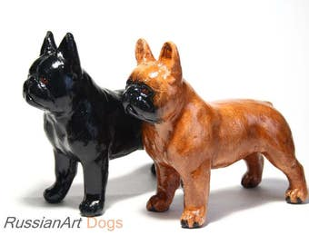 bulldog statue etsy. Black Bedroom Furniture Sets. Home Design Ideas