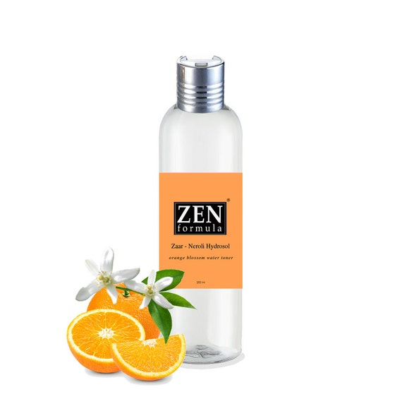 Orange Blossom ( Neroli) Organic Floral Water, 100% Natural Hydrolat skin toner for dry and sensitive skin