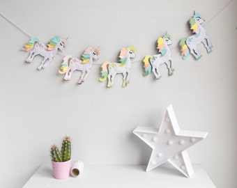 unicorn garland | etsy