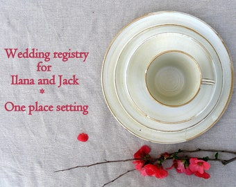 Ilana and Jack Wedding registry - 1 place setting