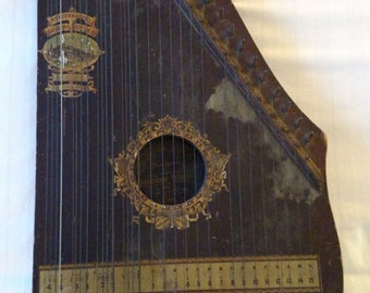 100 Year Old + Guitar! US Guitar Zither Co. Oscar Schmidt - Manufactured by Menzenhauer Guitar - Zither - No 2. - Special St. Louis Model