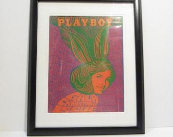 Vintage Playboy Magazine Cover Matted Framed : December 1967 - Lynn Winchell