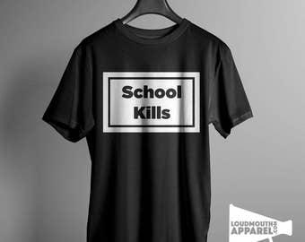 School Kills Men's Tee Worn by Rihanna T-Shirt